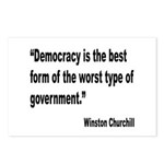 Churchill Democracy Quote Postcards (Package of 8)