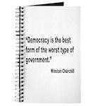 Churchill Democracy Quote Journal