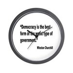 Churchill Democracy Quote Wall Clock