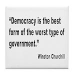 Churchill Democracy Quote Tile Coaster