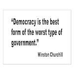 Churchill Democracy Quote Small Poster