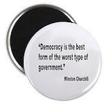 Churchill Democracy Quote Magnet