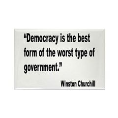 Churchill Democracy Quote Rectangle Magnet (10 pac