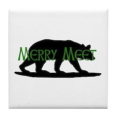 Merry Meet Spirit Bear Tile Coaster