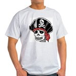 Skeleton Pirate Ash Grey T-Shirt