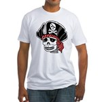 Skeleton Pirate Fitted T-Shirt