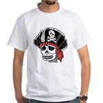 Skeleton Pirate White T-Shirt
