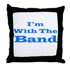 I'm With the Band - Blue/White Throw Pillow