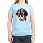 Skeleton Pirate Women's Pink T-Shirt