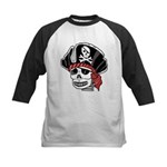 Skeleton Pirate Kids Baseball Jersey