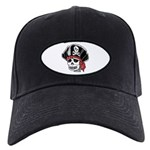 Skeleton Pirate Black Cap