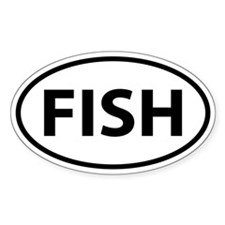 FISH Oval Decal