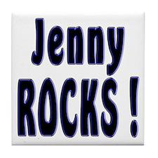 Jenny Rocks ! Tile Coaster