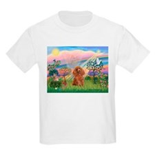 Cloud Angel and a brown miniature Poodle #10 T-Shirt