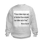 Churchill Alcohol Quote Kids Sweatshirt