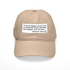 Churchill Alcohol Quote Baseball Cap