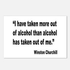 Churchill Alcohol Quote Postcards (Package of 8)