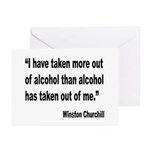 Churchill Alcohol Quote Greeting Cards (Pk of 20)