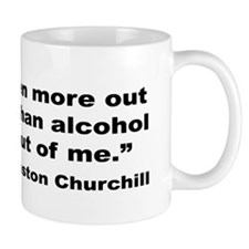 Churchill Alcohol Quote Mug