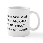 Churchill Alcohol Quote Mug