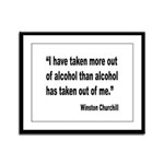 Churchill Alcohol Quote Framed Panel Print