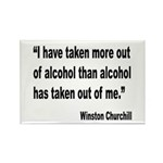 Churchill Alcohol Quote Rectangle Magnet