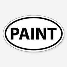 PAINT Oval Decal