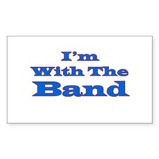 I'm With the Band - Blue/Red Rectangle Decal