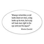 Churchill Animals Quote Oval Sticker (10 pk)
