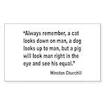 Churchill Animals Quote Rectangle Sticker 10 pk)