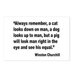 Churchill Animals Quote Postcards (Package of 8)