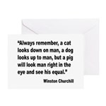 Churchill Animals Quote Greeting Card