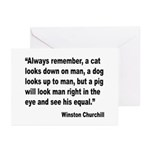 Churchill Animals Quote Greeting Cards (Pk of 10)