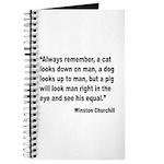 Churchill Animals Quote Journal