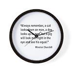 Churchill Animals Quote Wall Clock