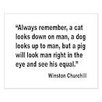 Churchill Animals Quote Small Poster