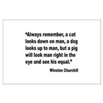 Churchill Animals Quote Large Poster