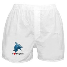I Love Dolphins Boxer Shorts
