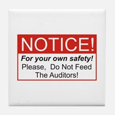 Notice / Auditors Tile Coaster