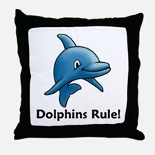 Dolphins Rule! Throw Pillow