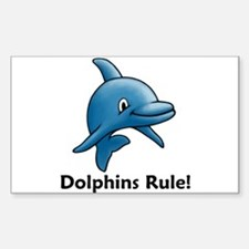 Dolphins Rule! Rectangle Decal