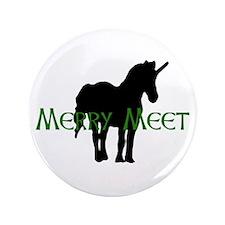"""Merry Meet Spirit Unicorn 3.5"""" Button"""