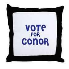 Vote for Conor Throw Pillow