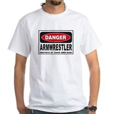 Armwrestler Danger Sign Shirt