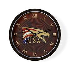 USA & Eagle Wall Clock