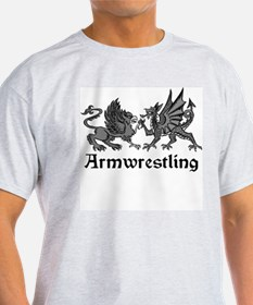 Heraldry Emblems Armwrestling T-Shirt