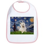 Starry Night/Westie Bib