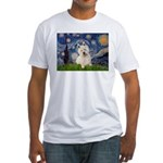 Starry Night/Westie Fitted T-Shirt