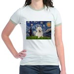 Starry Night/Westie Jr. Ringer T-Shirt