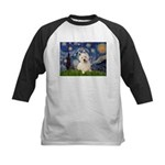 Starry Night/Westie Kids Baseball Jersey